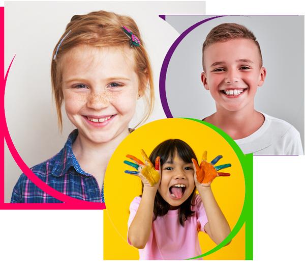 collage of happy children for pediatric dentistry sugar land tx