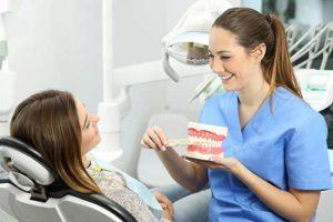 dentist explaining preventative dentistry