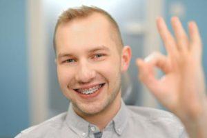 man gets new orthodontics